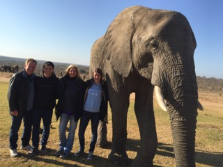 Shurtz family with elephant