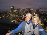Sydney bridge climb at night